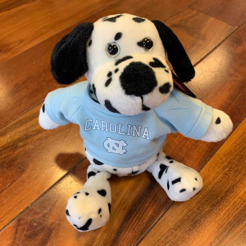 stuffed puppy wearing a Carolina tee shirt