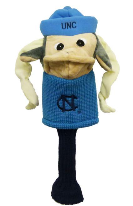 UNC golf head cover that looks like Rameses puppet.