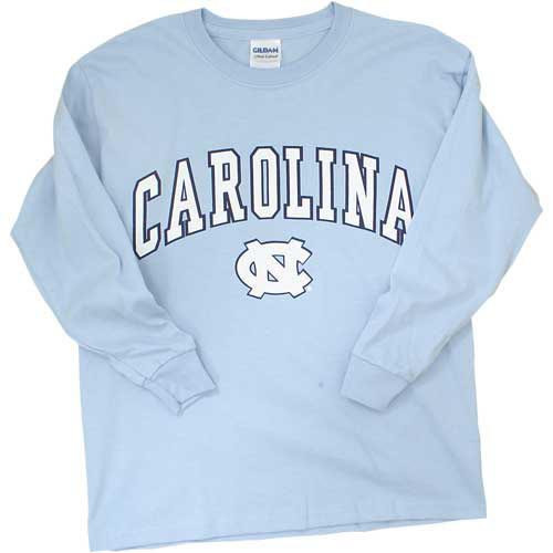 YOUTH Arc Carolina over the NC Long Sleeve Tee