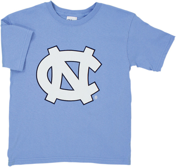 YOUTH Carolina Big NC Tee Shirt - Carolina Blue