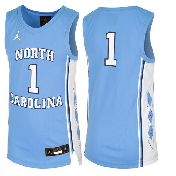 YOUTH Nike Replica Basketball Jersey - Carolina Blue #1