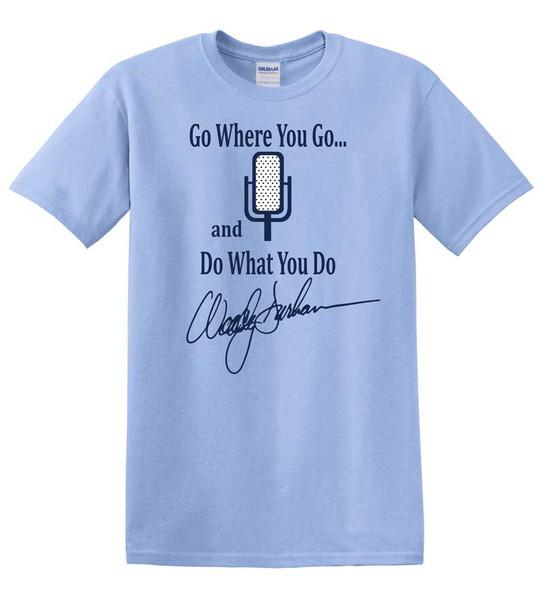 Woody Durham Go Where You Go Tee - Carolina Blue