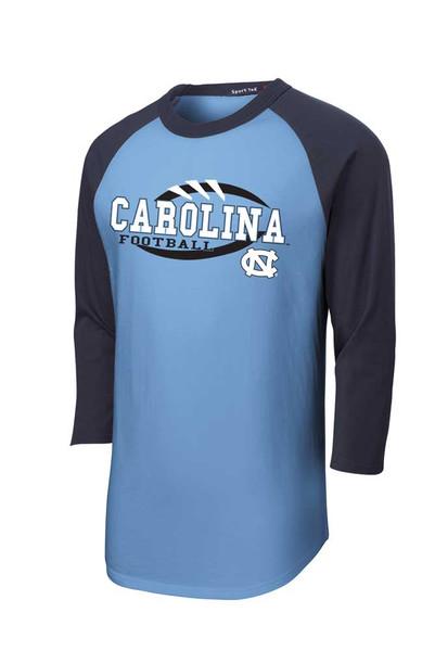 Color Block Raglan Tee - Carolina Football Stitches