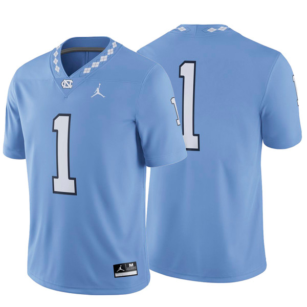 Nike Jordan Football Game Jersey - Carolina Blue #1