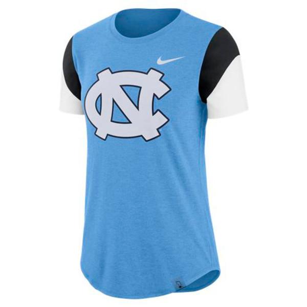 Nike Women's TriBlend Fan Crew Tee - Carolina Blue