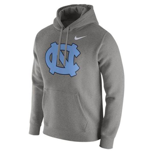 Nike Carolina Club Fleece Hood - Dark Gray Heather NC