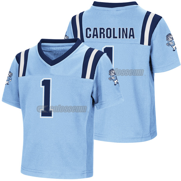 Toddler Colosseum Football Jersey - #1 Carolina Blue