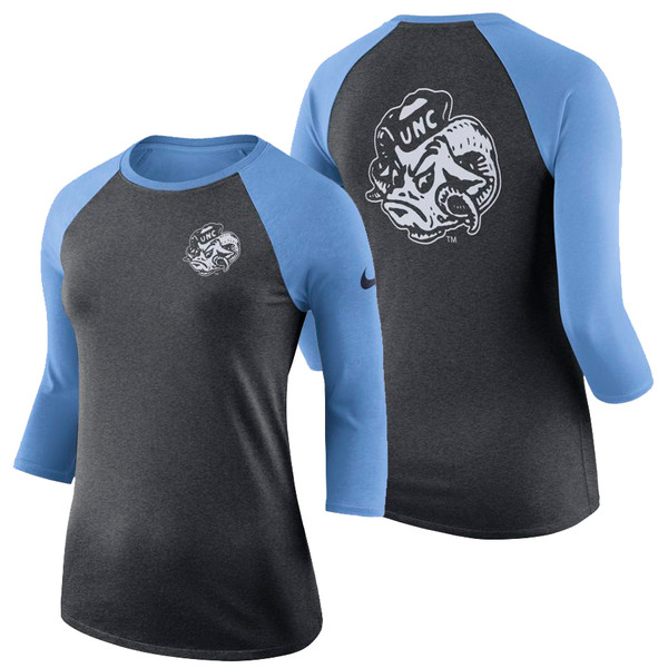 Women's Nike Carolina DriFIT 3/4 Sleeve Raglan - Ram