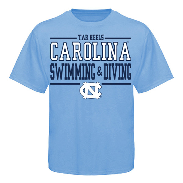 YOUTH Carolina Sport Between the Lines Tee - SWIMMING AND DIVING