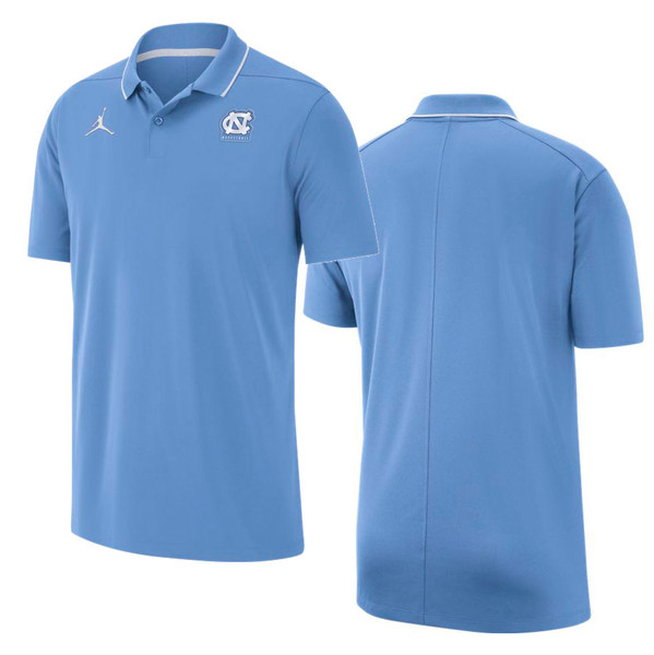 Nike Jordan Carolina Basketball Polo - Carolina Blue