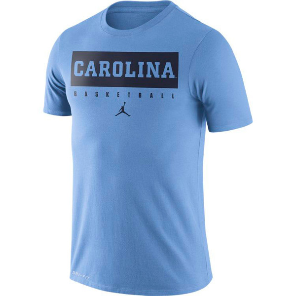 Nike Jordan Carolina DriFIT Basketball Practice Tee - Carolina Blue