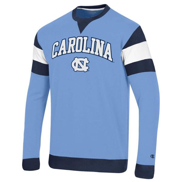 Champion Color Block MTO SuperFan Sweatshirt - Carolina Blue