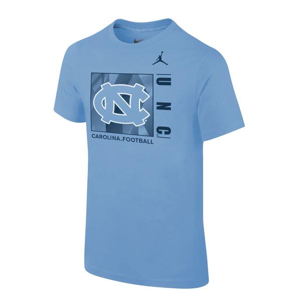 YOUTH Nike CoreTee- Carolina Blue Square Football