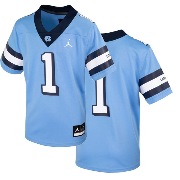 YOUTH Nike Football Jersey - Throwback Carolina Blue #1