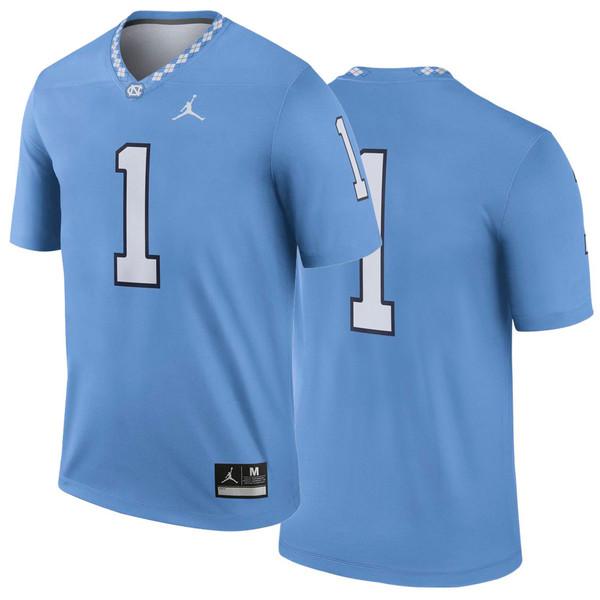 Nike Jordan Football Replica Jersey - Carolina Blue #1
