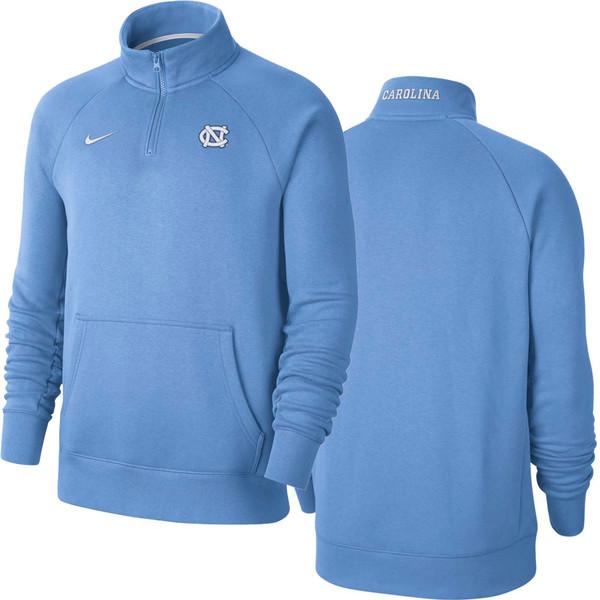Nike Quarter Zip Fleece Top  - Carolina Blue