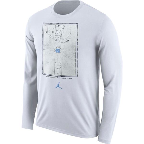 Nike UNC Long Sleeve Court T - White