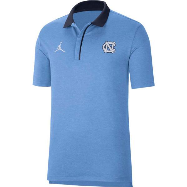 Nike Jordan Carolina Sideline Polo - Carolina Blue Heather