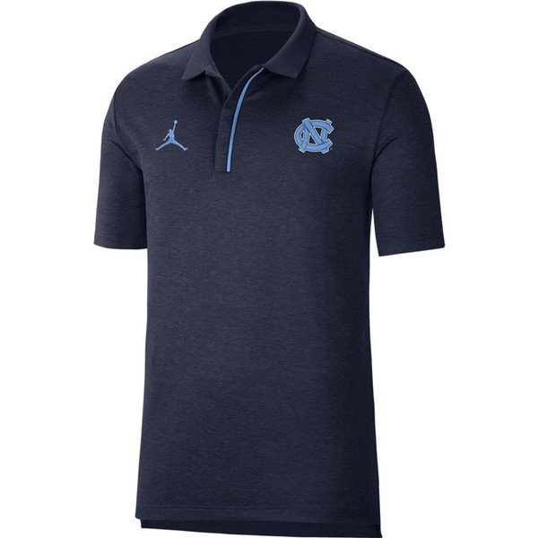 Nike Jordan Carolina Sideline Polo - Navy Heather