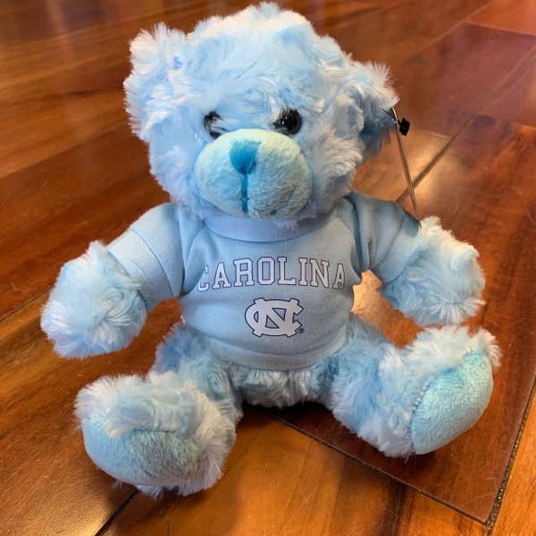 stuffed Carolina Blue bear wearing a Carolina tee shirt