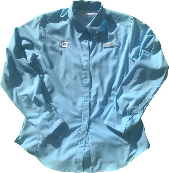 Women's Columbia Carolina Tamiami Long Sleeve Shirt - Carolina Blue