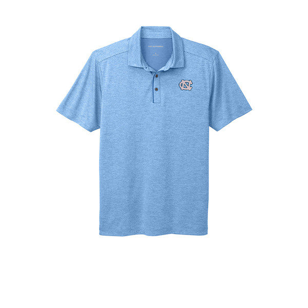 Carolina Shadow Stripe Polo - Carolina Blue
