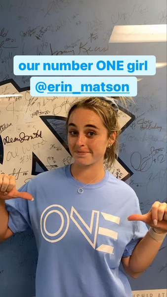 YOUTH NIL 2021 Erin Matson number ONE Tee