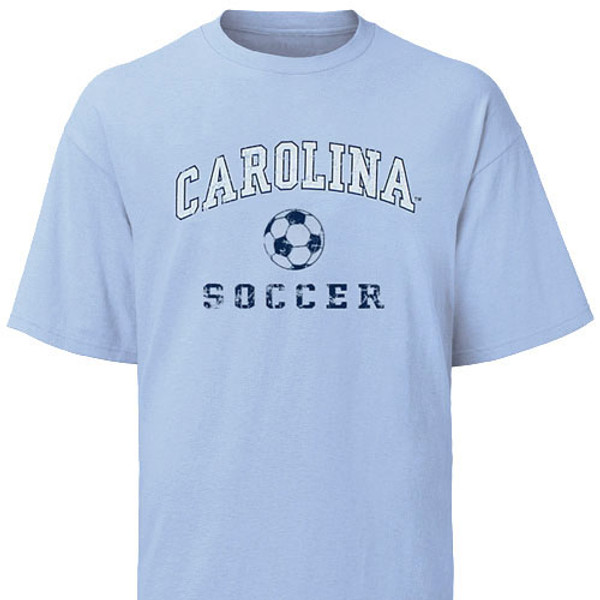 Carolina Faded Sport Tee Shirt - Soccer
