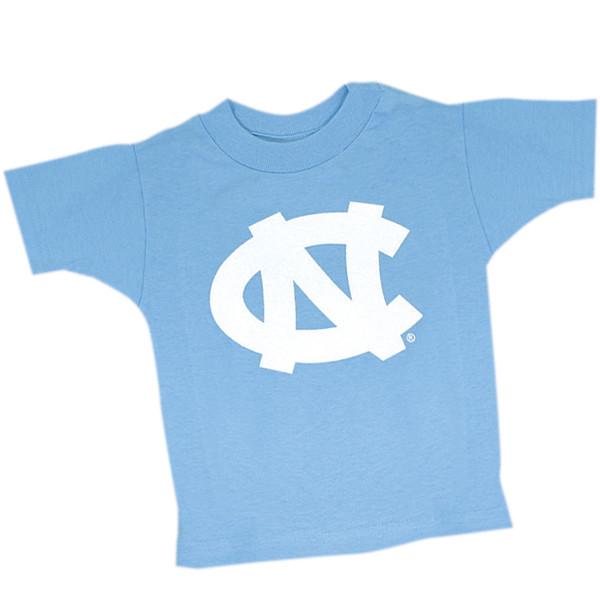 infant & toddler sized Carolina blue tee shirt with interlock NC