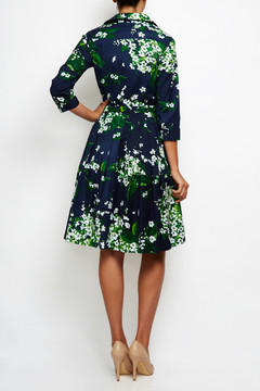 Claire Dress in Lily Indigo