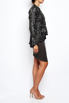 Le Cuir Perdu Embellished Distressed Leather Jacket 3