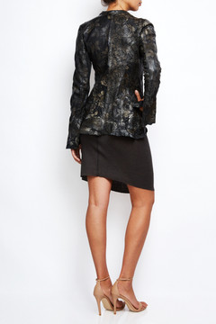 Le Cuir Perdu Embellished Distressed Leather Jacket 4