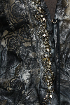 Le Cuir Perdu Embellished Distressed Leather Jacket 5