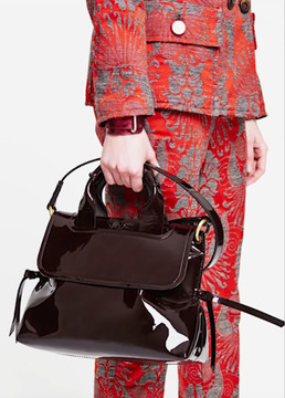 Maliparmi Virginia Patent Leather Satchel Bag