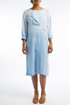 Long Baby Blue Ombre Day Dress