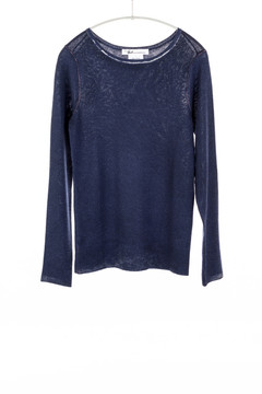 Paychi fitted boat neck cashmere sweater - navy