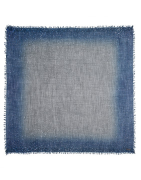Sarti navy charcoal sequin square scarf