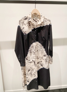 Suzusan floral cotton long dress button down