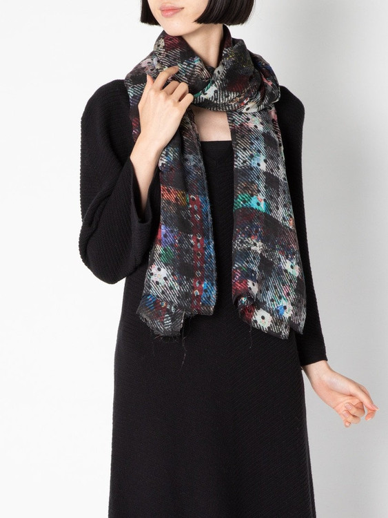 Sarti digital plaid modal cashmere scarf