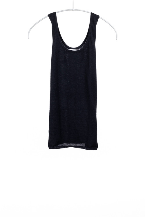 Paychi worsted cashmere tank- black
