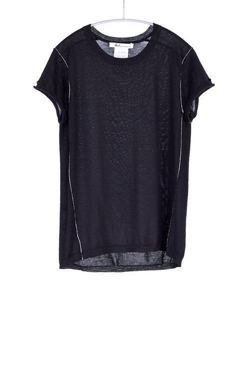 Paychi worsted cashmere baby tee - black