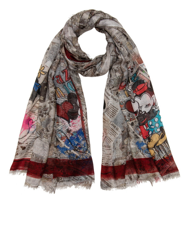 Sarti x Disney limited collectors scarf Mickey and Minnie
