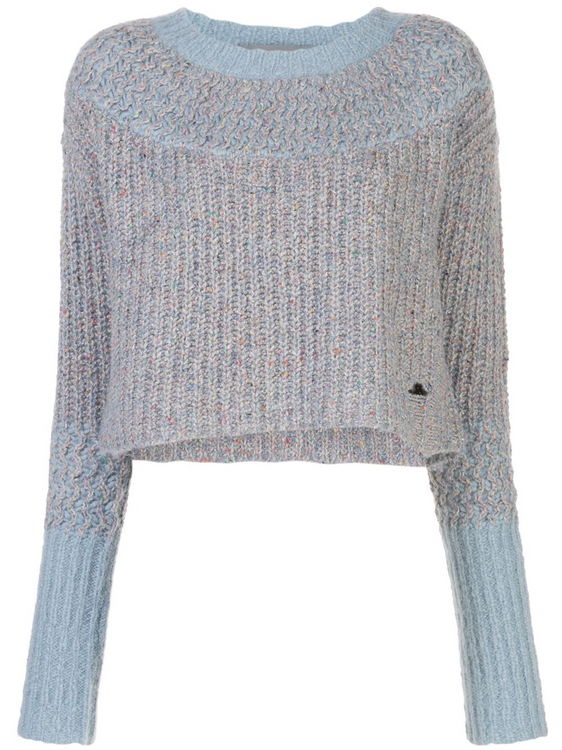 Raquel Allegra two tone sweater - light blue