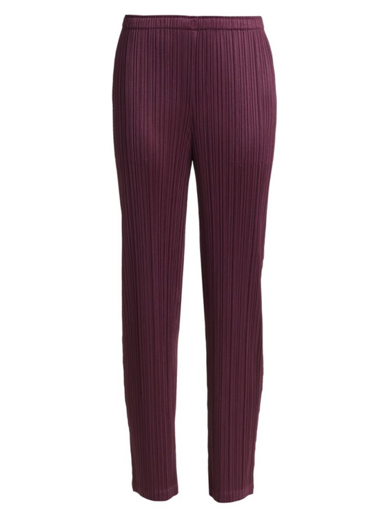 Issey Miyake Pleats seasonal colors pant- plum