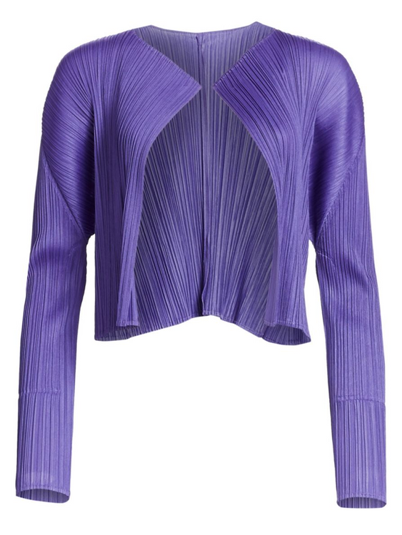 Issey Miyake Pleats seasonal colors cardigan - lilac
