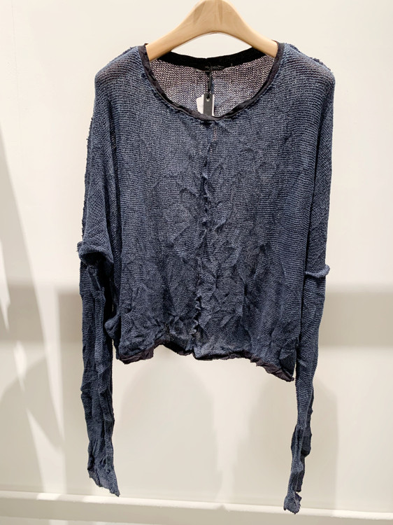 Umit Unal cotton long sleeve distressed sweater