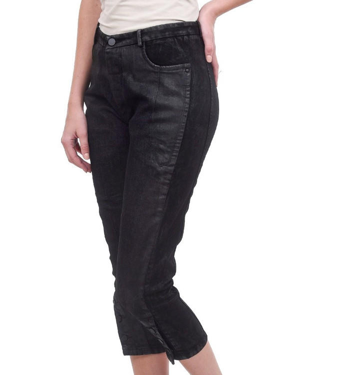 Umit Unal black jeans with sparkle