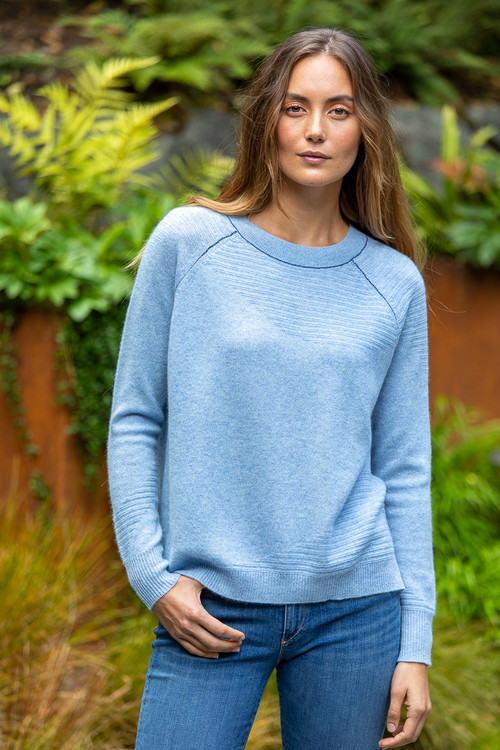 Paychi airy cashmere sweater - pale blue