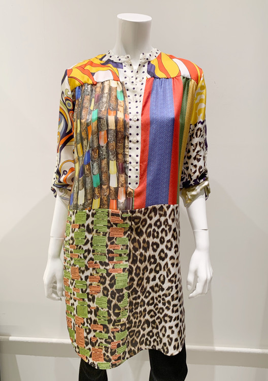 La Prestic Ouiston silk tunic dress - multi print
