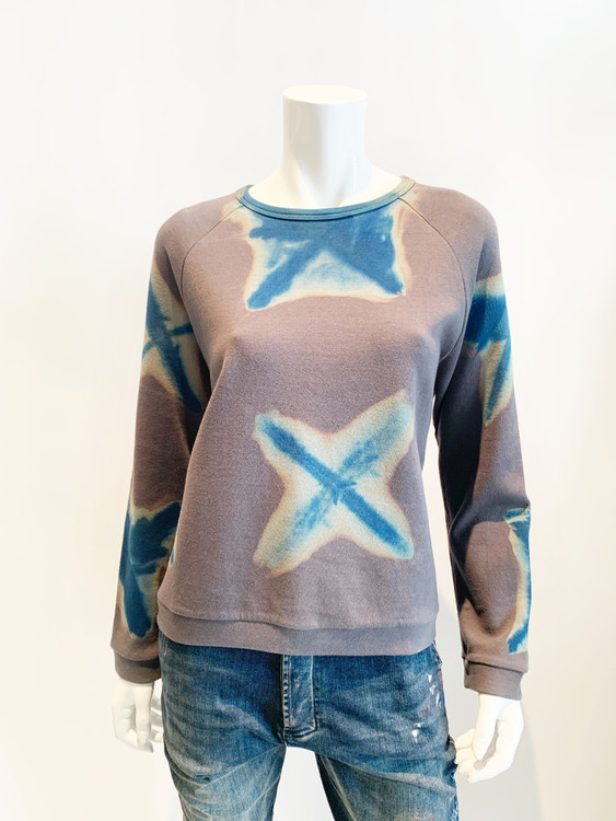 Suzusan hand dyed crew neck cotton sweatshirt